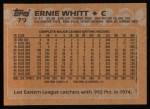 1988 Topps #79  Ernie Whitt  Back Thumbnail