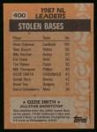 1988 Topps #400   -  Ozzie Smith All-Star Back Thumbnail