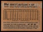 1988 Topps #479  Brett Butler  Back Thumbnail