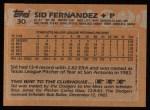 1988 Topps #30  Sid Fernandez  Back Thumbnail