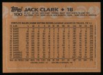 1988 Topps #100  Jack Clark  Back Thumbnail