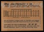 1988 Topps #285  Jim Presley  Back Thumbnail