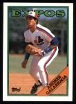 1988 Topps #25  Andres Galarraga  Front Thumbnail