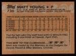 1988 Topps #736  Matt Young  Back Thumbnail