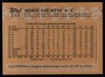 1988 Topps #237  Mike Heath  Back Thumbnail