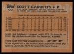 1988 Topps #97  Scott Garrelts  Back Thumbnail