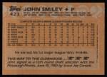 1988 Topps #423  John Smiley  Back Thumbnail