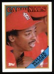 1988 Topps #160  Willie McGee  Front Thumbnail