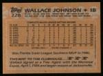 1988 Topps #228  Wallace Johnson  Back Thumbnail