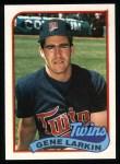 1989 Topps #318  Gene Larkin  Front Thumbnail