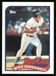 1989 Topps #630  Mike Greenwell  Front Thumbnail