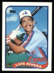 1989 Topps #431  Luis Rivera  Front Thumbnail