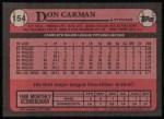 1989 Topps #154  Don Carman  Back Thumbnail