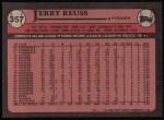 1989 Topps #357  Jerry Reuss  Back Thumbnail