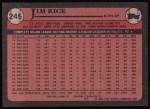 1989 Topps #245  Jim Rice  Back Thumbnail