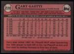 1989 Topps #220  Gary Gaetti  Back Thumbnail