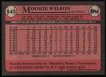 1989 Topps #545  Mookie Wilson  Back Thumbnail