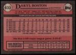 1989 Topps #633  Daryl Boston  Back Thumbnail