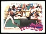 1989 Topps #51   -  Mark McLemore Angels Leaders Front Thumbnail