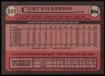 1989 Topps #331  Curt Wilkerson  Back Thumbnail