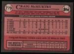 1989 Topps #779  Craig McMurtry  Back Thumbnail