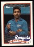1989 Topps #183  Oddibe McDowell  Front Thumbnail
