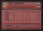 1989 Topps #657  Joe Magrane  Back Thumbnail