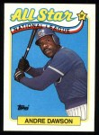 1989 Topps #391   -  Andre Dawson All-Star Front Thumbnail
