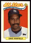 1989 Topps #407   -  Dave Winfield All-Star Front Thumbnail