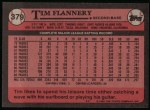 1989 Topps #379  Tim Flannery  Back Thumbnail