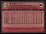 1989 Topps #455  Johnny Ray  Back Thumbnail