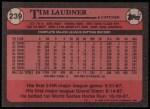 1989 Topps #239  Tim Laudner  Back Thumbnail
