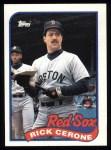 1989 Topps #96  Rick Cerone  Front Thumbnail