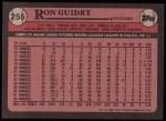 1989 Topps #255  Ron Guidry  Back Thumbnail