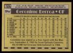 1990 Topps #617  Geronimo Berroa  Back Thumbnail
