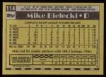 1990 Topps #114  Mike Bielecki  Back Thumbnail
