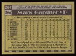 1990 Topps #284  Mark Gardner  Back Thumbnail