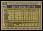 1990 Topps #173  Tim Belcher  Back Thumbnail