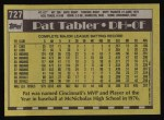 1990 Topps #727  Pat Tabler  Back Thumbnail