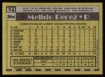 1990 Topps #621  Melido Perez  Back Thumbnail