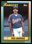 1990 Topps #242  Fred Manrique  Front Thumbnail