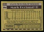 1990 Topps #253  Mark Portugal  Back Thumbnail