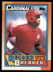 1990 Topps #6   -  Vince Coleman Record Breaker Front Thumbnail