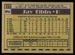 1990 Topps #677  Jay Tibbs  Back Thumbnail
