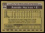 1990 Topps #412  Jamie Moyer  Back Thumbnail