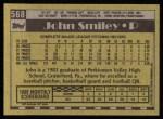 1990 Topps #568  John Smiley  Back Thumbnail