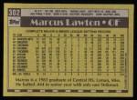 1990 Topps #302  Marcus Lawton  Back Thumbnail