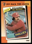 1990 Topps #662   -  Mike Schmidt Turn Back The Clock Front Thumbnail
