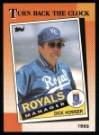 1990 Topps #661   -  Dick Howser Turn Back The Clock Front Thumbnail