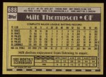 1990 Topps #688  Milt Thompson  Back Thumbnail